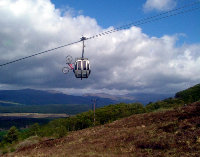 Gondola and bike up Aonach Mor to Nevis range